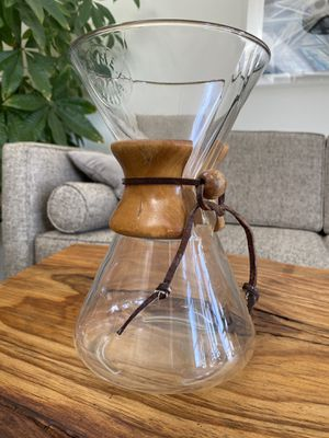 Vintage Pyrex Chemex Drip Coffee Maker with Embossed Stamp for Sale in Los Angeles, CA