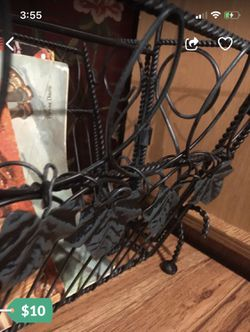 Vintage wrought iron magazine rack for Sale in Tacoma,  WA