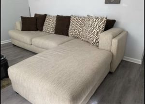 Tan sectional couch for Sale in Willingboro, NJ