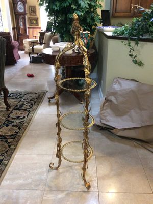 Beautiful gold gilded curio stand for Sale in Tallahassee, FL