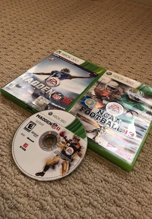 3 Xbox 360 Games with Madden 16 for $20 for Sale in Houston, TX
