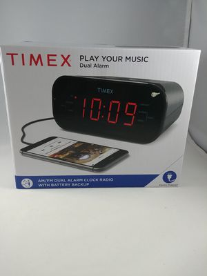 Timex T231GY AM/FM Dual Alarm Clock Radio with 1.2-Inch Red Display and Line-In for Sale in Tacoma, WA
