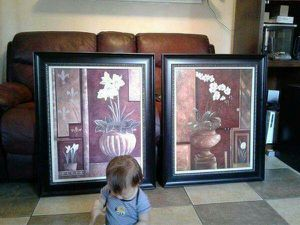 2 Beautiful paintings signed by B Btown for Sale in Rialto, CA