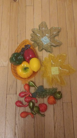 Decorative fruit, veggies and dishes for Sale in Frederick, MD