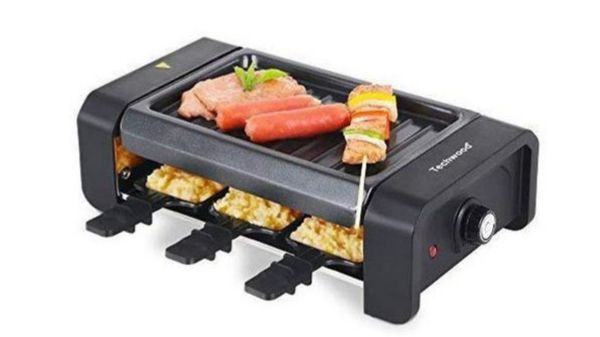 Electric BBQ Grill, Raclette Grill with Adjustable Temperature Control, Nonstick Removable Dishwasher Safe Plate