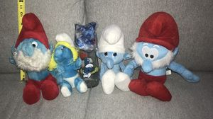 Vintage Papa Smurf and Smurfette Plush Toy Doll and vintage Cup - All this $8 for Sale in Port St. Lucie, FL