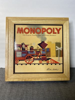 MONOPOLY Nostalgia Series Board Game Bookshelf Wood/Wooden Collector's Box 💰 for Sale in Sacramento, CA
