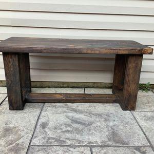  Bench Indoor & Outdoor Wood Rustic Handmade for Sale in Aurora, IL