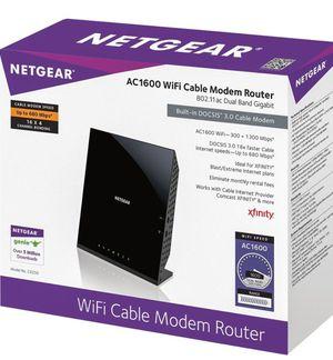 Netgear AC1600 wifi DOCSIS 3.0 cable modem router for Sale in North Arlington, NJ