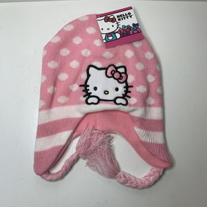 NEW Hello Kitty Pink Kids Girls Sweater Winter Hat Knitted Beanie Cap for Sale in Trenton, NJ