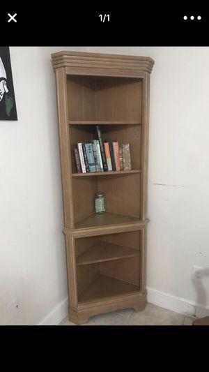 2 corner bookshelves for Sale in Boynton Beach, FL