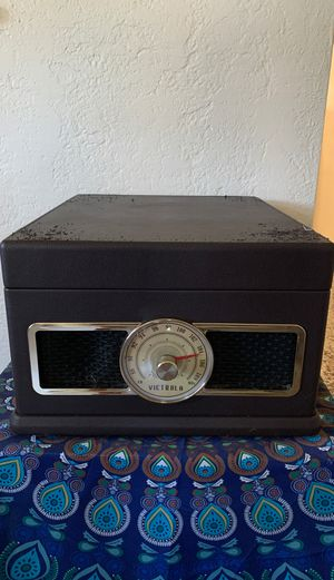 Victrola Brown Faux Leather Record Player for Sale in St. Petersburg, FL