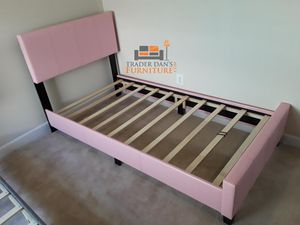 Brand New Twin Size Pink Leather Platform Bed Frame for Sale in Kensington, MD