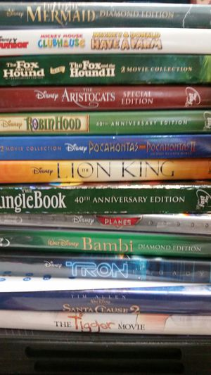 20 Disney DVD Movies Brave Hercules 101 Dumbo Snow White Bambi & More for Sale in Seffner, FL