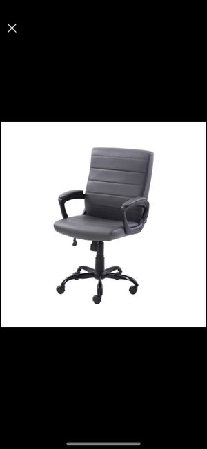 new Bonded Leather Mid-Back Manager's Office Chair, Gray for Sale in Chicago, IL