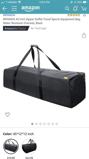 Brand new 45 inch zipper duffle travel sports equipment bag for Sale in Monterey Park, CA