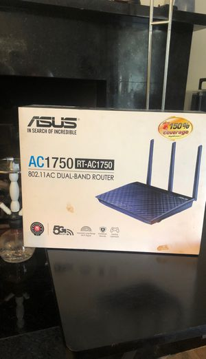 ASUS AC1750 dual band router. In box never used. for Sale in Los Angeles, CA