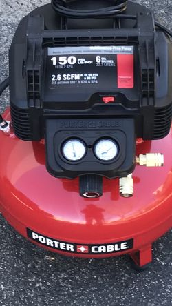 IS LIKE NEW PORTER CABLE 6 Gal. 150PSI Electric Pancake Air Compressor . for Sale in Los Angeles,  CA