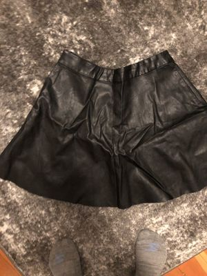 Women's size medium faux black leather skirt for Sale in Seattle, WA
