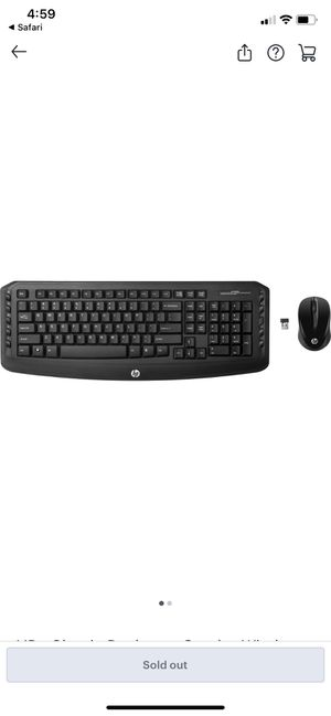 HP - Classic Combo Wireless Keyboard and Mouse for Sale in Tampa, FL