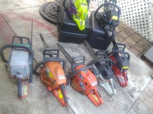7 CHAINSAW ONLY NEED CLEAN CARBURATOR ALL FOR 1 PRICE for Sale in West Palm Beach, FL