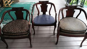 3 vintage chairs very detailed Egyptian or Greek details for Sale in Hammond, IN