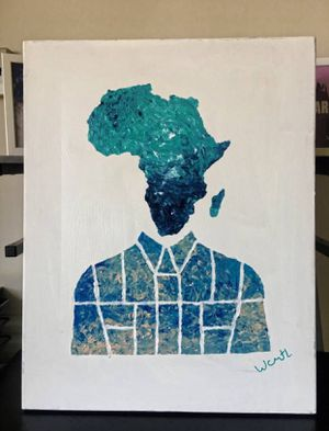 """""""Africa inspires me''/ positive art painting by artist W.C-M.T.L for Sale in Arlington, VA"""