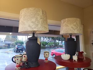 Large lamp set for Sale in Tacoma, WA