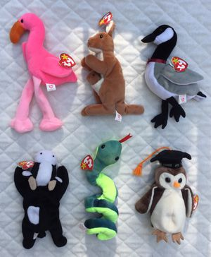 Vintage 90's TY Beanie Baby Bundle / Lot of 6 for Sale in Fresno, CA