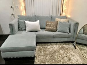 Microfiber sofa with chaise for Sale in Los Angeles, CA