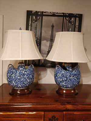 "Like new 2 table lamp in great condition, pet free smoke free. L15""*H22"" for Sale in Annandale, VA"