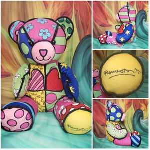 Build a Bear Romero Britto Patchwork Colorful Designer BABW Plush Teddy for Sale in Hallettsville, TX