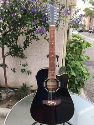 De Rosa 12 string electric acoustic guitar (Requintó) with soft case strap cable and pick for Sale in Bell, CA