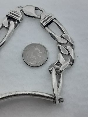 "Real Solid .925 Italy Sterling Silver ID Bracelet 9.25"" 12mm for Sale in Hollywood, FL"