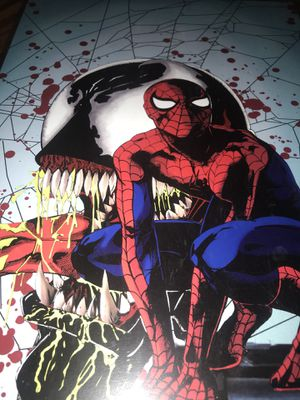 Spider man venom anime 11x17 art print comes in a top loader case for Sale in Colorado Springs, CO