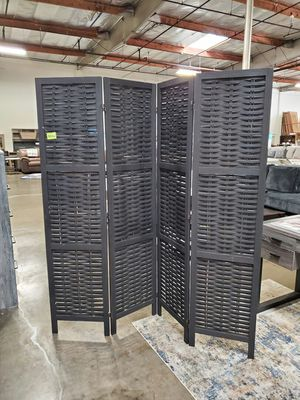4 Pannel Room Divider / Shoji Screen, Black for Sale in Fountain Valley, CA