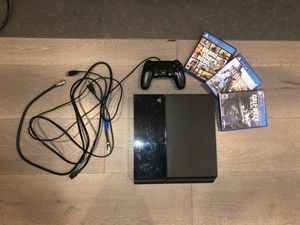 PS4 (with 3 games) for Sale in Los Angeles, CA