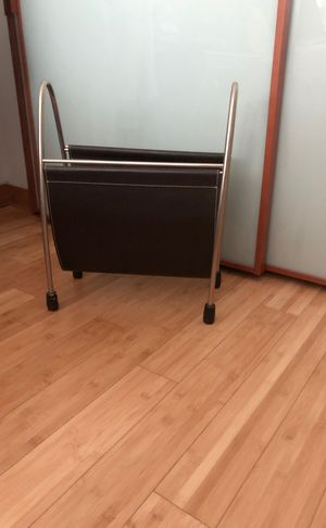 Magazine Holder - Leather and Stainless Steel for Sale in Miami, FL