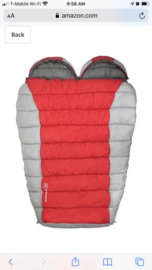 NEW - Double Mummy Sleeping Bag for Camping, Backpacking and Hiking, Cold Weather 2 Person Double Sleeping Bag Queen Size Waterproof Sleeping Bag for for Sale in Mount Prospect, IL