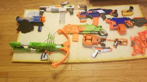 Nerf collection 10 guns plus bow and arrow for Sale in Indianapolis, IN