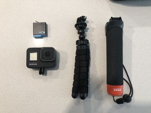 GoPro Hero 8 Black with Extra Battery, 32GB Memory Card, Tripod, Headmount, Car Mount, and Hand attachment. for Sale in Wheat Ridge, CO
