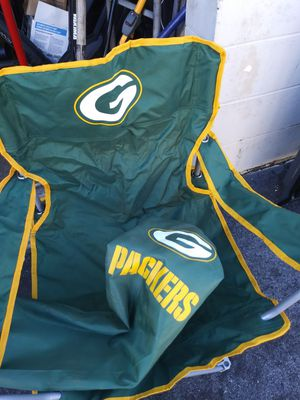 Greenbay packers folding chair for Sale in Tampa, FL