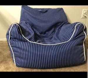 Kids Bean Bag Chair - Navy Stripe - Pillowfort for Sale in Novi, MI