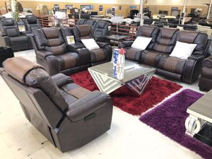 BRAND NEW POWER SOFA LOVE AND CHAIR BROWN for Sale in Fort Worth, TX