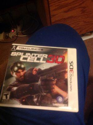 Splinter Cell 3D for Nintendo 3DS for Sale in Everett, WA