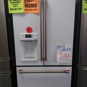 KEURIG WHITE FRENCH DOOR REFRIGERATOR WITH COFFEE DISPENSER🚚💨FAST DELIVERY🚚💨🚨BUY NOW PAY🚨⭐NO CREDIT NEEDED⭐♦ASK 4 ASHLEY♦ for Sale in Riverside, CA