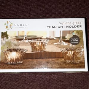 3-piece Glass Tealight Holder for Sale in Rockville, MD
