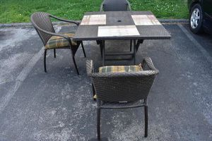 Cafe 4 - Pc Curved Back Chairs and Table Set Bronze Color Outdoor Furniture for Sale in Nashville, TN