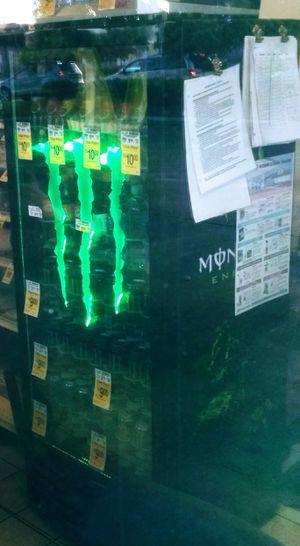 Monster energy neon glassdoor referidgerator for Sale in Fresno, CA