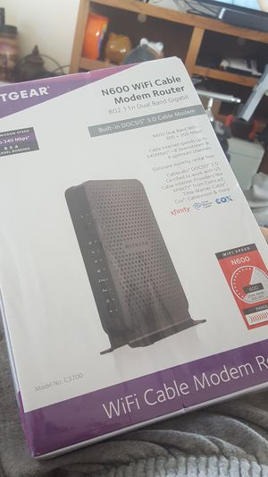 NETGEAR N600 Wifi Cable Modem Router for Sale in Sioux City, IA